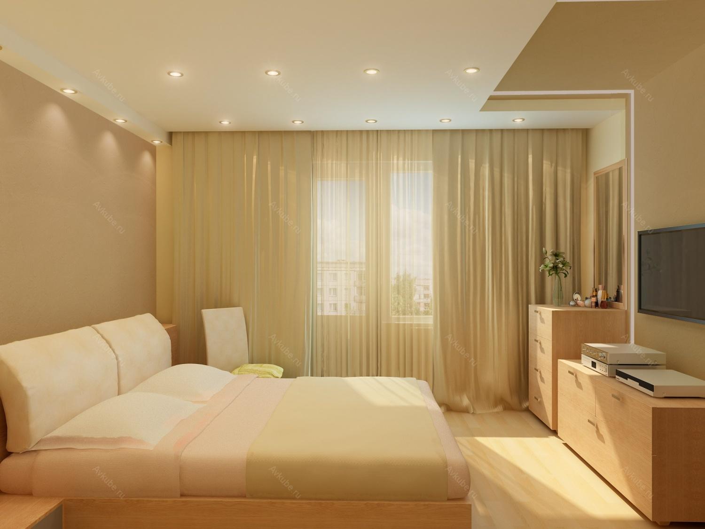 Матовые натяжные потолки в спальню